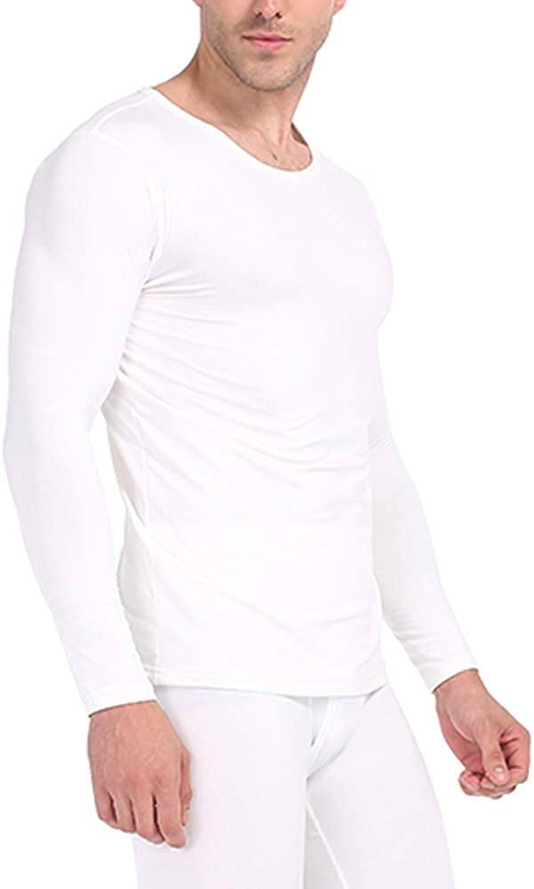Subuteay Mens Thermal Shirts Fleece Lined Top Long Sleeve Compression Base Layer