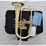 FidgetKute Prof. Gold Lacquer Bb Flugelhorn Flugel Horn with new case