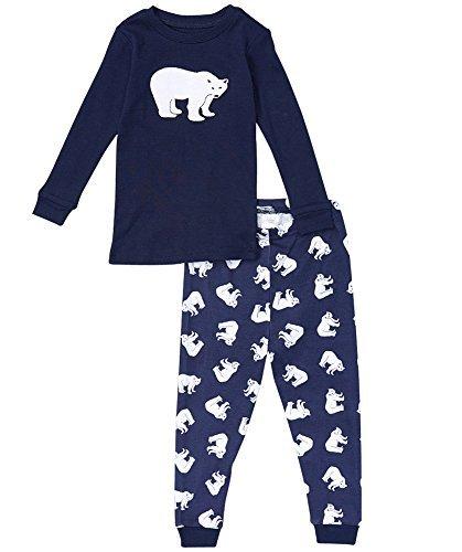 Two Piece Footed Pajamas - 8