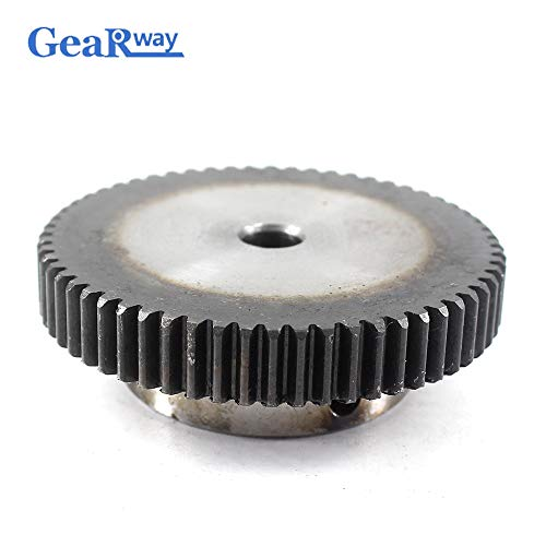 Fevas Gear Wheel Metal 1Module 70T 45Steel Spur Gear Pinion 8/10/12mm Bore 1 Mould 70Teeth Metal Gear Wheel Pulley for Motor - (Number of Teeth: 70 Teeth, Hole Diameter: 10mm)