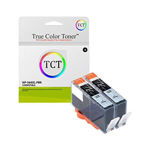 (TCT Compatible Ink Cartridge Replacement for HP 564XL 546 XL Photo Black Works with HP Photosmart 5511 5512 5514 5515 5520 5522 5524 5525 Printers (290 Pages) - 2 Pack)