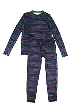 ClimateSmart Boys Long Sleeve Crew Neck and Pant - 2 PC Set-MultiStriped, XL