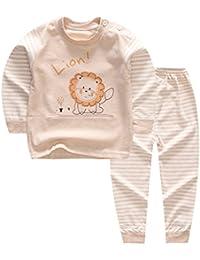 100% Organic Cotton Baby Boys Girls Pajamas Set Long Sleeve Sleepwear(3M-5T