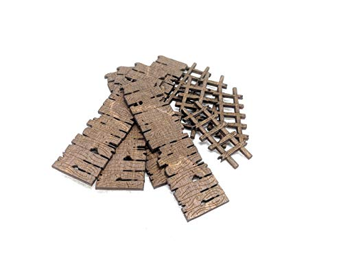 Gangplanks and Ladders // Set of 5 Each // Stained Laser Cut Birch Plywood // For Tabletop RPGs like D&D, Pathfinder