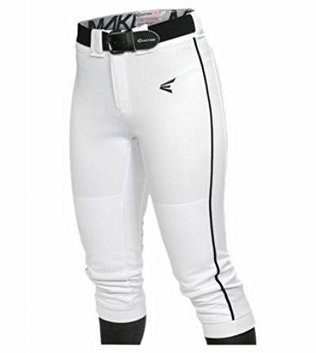 Easton Women's Mako Piped Pants, White/Black, Medium