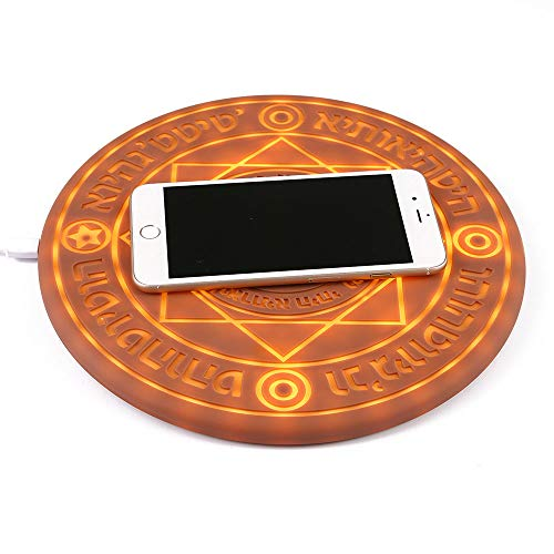 KOBWA Magic Array Wireless Charger, Qi-Certified Ultra Slim 10w Wireless Fast Charger Compatible with iPhone X/XS/MAX/8/8 Plus/,Galaxy Note 9/S9/S9 Plus/Note 8/S8 Edge More (No AC Adapter)