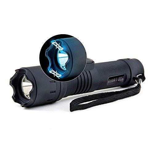 Beautyrain 1 PC Lampe de poche noire haute puissance extérieure Éclairage de nuit Camping Vélo Aventure