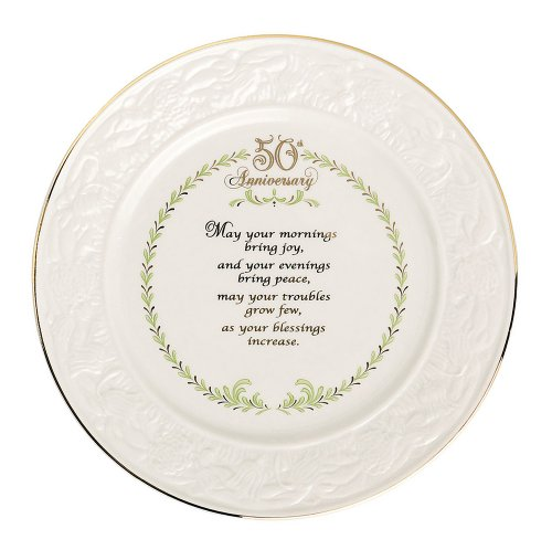 Belleek 50th Anniversary Plate, 8.6