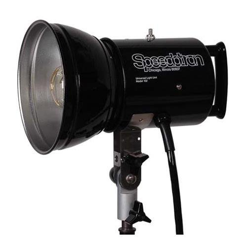 "Speedotron Black Line 102CC - 2400 WS Lamphead with 5500 deg.K color-corrected flash tube and 7"" umbrella reflector"