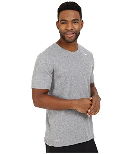 NIKE Men's Dri-FIT Cotton 2.0 Tee, Carbon Heather/Carbon Heather/White, Small by Nike (Image #4)