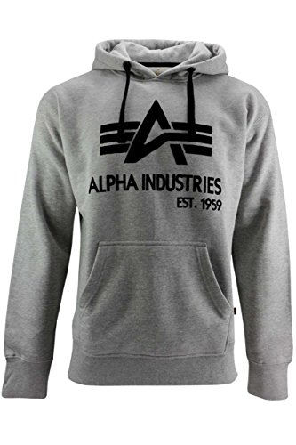 Alpha Industries Big A Classic Hoody 103308 (XXL, grey heather)