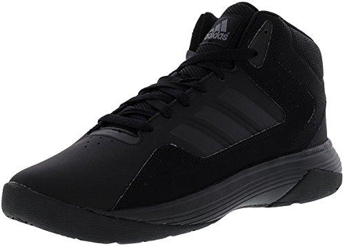 Adidas Neo Men's Cloudfoam Ilation Mid Basketball Shoe, Black/Black/Onix, 10.5 M US (Black Top Mens Shoes High Leather)