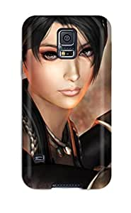 Durable Defender Case For Galaxy S5 Tpu Cover(ninja Gaiden Fantasy Anime Warrior Sword ) by lolosakes