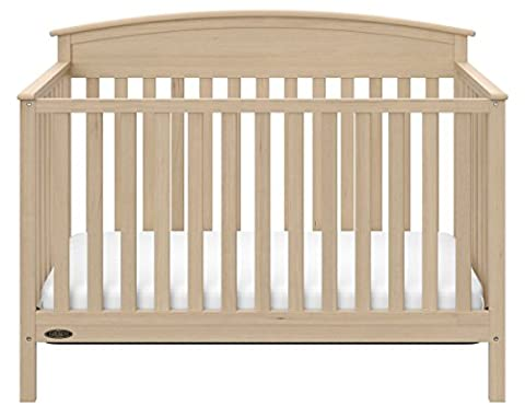 Graco Benton 5-in-1 Convertible Crib, Driftwood (Graco Crib Benton)
