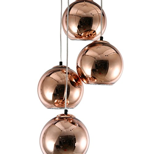 mirrea Modern Kitchen Island Lighting Mini Globe Pendant Light 1 Light in Copper Globe Shade by mirrea (Image #1)