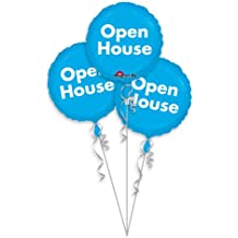 Anagram Foil Balloon 1689901 Pop Open House-3 Pack, Multicolored