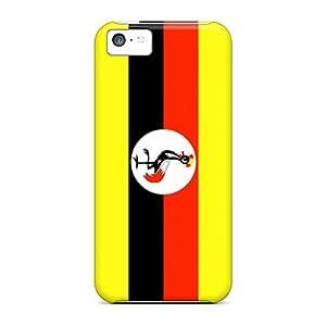 NEM869VvDp Snap On Case Cover Skin For Iphone 5c(uganda Flag)