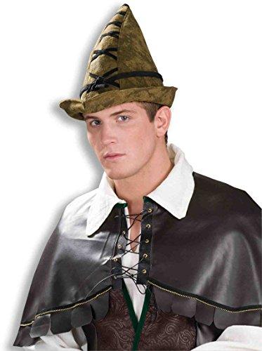Forum Novelties Deluxe Medieval Robin Hood Brown Hat - Adult Deluxe Robin Hood Halloween Costumes