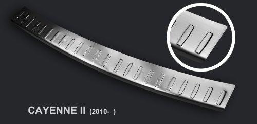 (ZIC Motorsports Stainless Steel Rear Bumper Protector fits 2011-2014 Porsche Cayenne II)