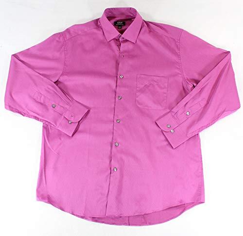 Alfani Mens Button Down Striped Dress Shirt $45 Purple 16 1/2