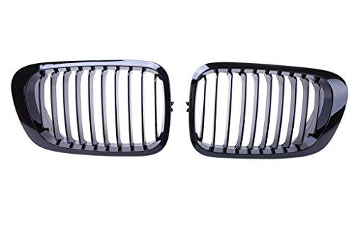 Jade onlines 2Pcs Rejilla Frontal Riñón Grill para BMW E462puertas 2d Serie 3Coupe 1998–2002color negro...