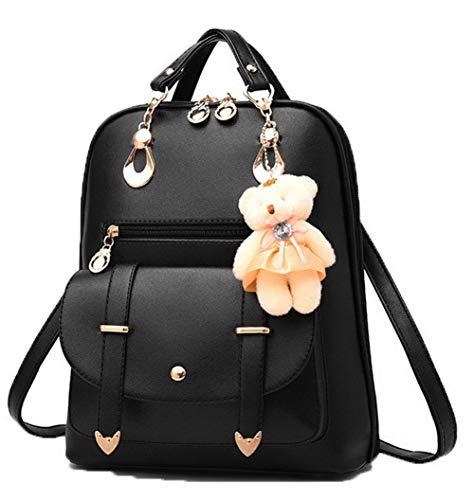 bandoulière FBUFBC181734 Daypack Noir Sacs Coton Femme Blanc Dos Poly à Weekender à Sacs AllhqFashion PvwqHTx