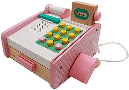 Caja Registradora de Juguete Madera Supermercado de Juguetes con Escáner y Lector de Tarjetas Conjunto de Accesorios de Tienda Juegos de Imitación Juguetes Niños 3 4 5 6 Nños: Amazon.es: Juguetes y juegos