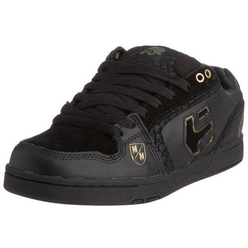Etnies - Zapatillas de deporte de cuero para hombre negro y dorado
