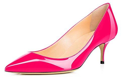 Aiguille Bureau Talon 6 Femme 5 Cm Moyen Chaussure Rose Hauteur Escarpins Edefs qtXw8gEt