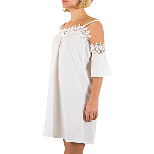 iTaL-dESiGn - Vestido - Sin tirantes - para mujer Weiß