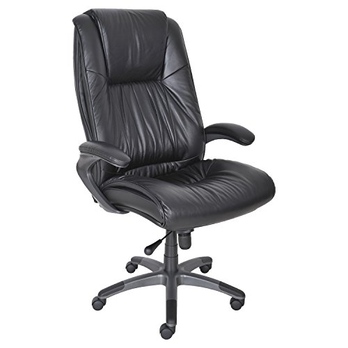 Tiffany Leather Chair - Tiffany & Co. Mayline Ultimo Leather Series 100 High Back Chair, Black Leather