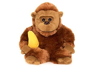 Habibi Plush gorila de peluche con plátano cojín de calor ...