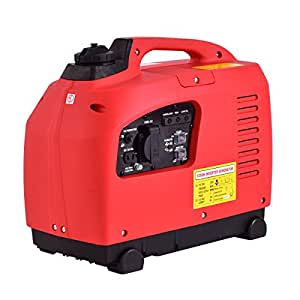 New MTN-G Portable 1250W Digital Inverter Generator 4 Stroke 53cc Single Cylinder Red