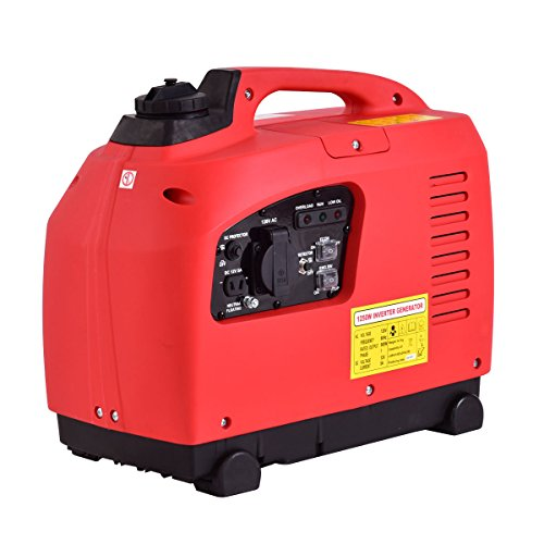 Goplus Gas-Powered Inverter Generator Portable Digital 4 Stroke 53cc Single Cylinder CE, GS, CARB & EPA Compliant, 1250W -