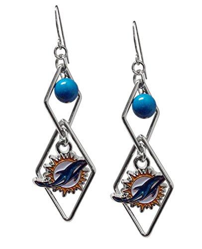 NFL Miami Dolphins Triangle Logo Dangler Earrings