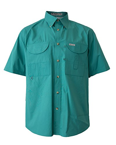 bd8c9bb510d Tiger Hill Men's Fishing Shirt Short Sleeves Teal XL/Tall