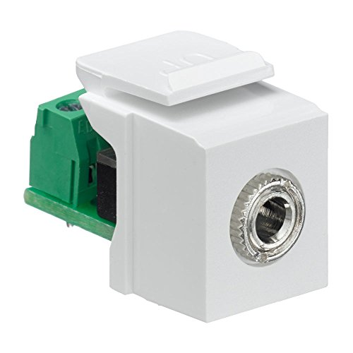 - Leviton 40839-SWS QuickPort Snap-In Module with 3.5Mmm Stereo Jack, Female To Screw Terminal, White
