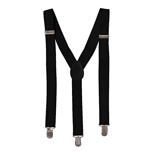 Black Solid Suspenders - Stylish And Practical Solid Suspenders In Black (Girl Suspenders Teen)