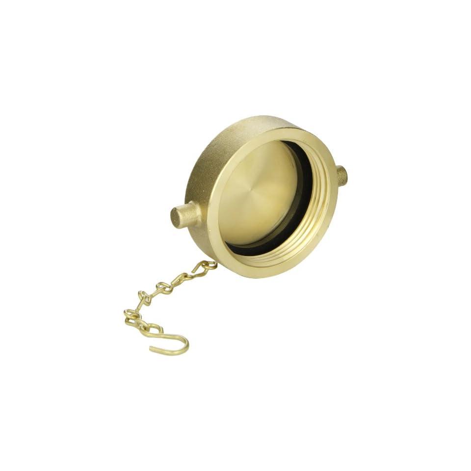 Moon 662 2511 Brass Fire Hose Fitting, Cap, 2 1/2 NPSH Cap
