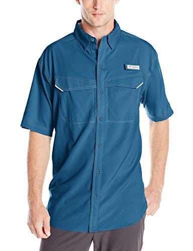 Columbia Mens Low Drag Offshore Short Sleeve Shirt, Night Tide, Medium