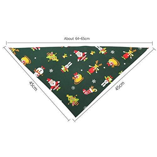 Dog Bandana Christmas Collar Scarf Bib Grooming Accessories Triangular Bandage Green
