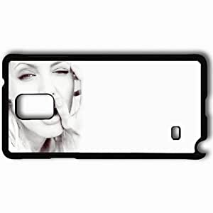 Personalized Samsung Note 4 Cell phone Case/Cover Skin Angelina Jolie Black