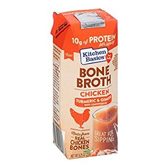 KITCHEN BASICS,INC, Bone Broth, Chkn, Trmrc, Gng, Pack of 12, Size 8.25 FZ, (Dairy Free Gluten ()
