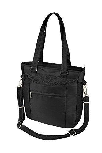 Travelon Anti-Theft Tote With Stitching, Black, One Size
