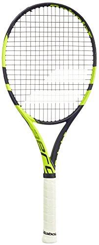 (Babolat Pure Aero Team Black/Yellow Tennis Racquet, 4 3/8