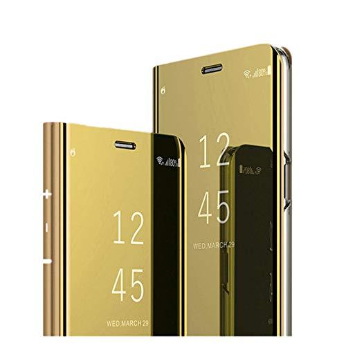 Elegante Hülle kompatibel mit Samsung Galaxy S10 Plus,reflektierende Schutzhülle PU-Leder Flip Handy Case mit Standfunktion case für Samsung Galaxy S10 Plus