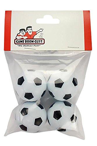 Dynamo Ball - Game Room Guys Set of 4 Soccer Ball Style Foosballs for Tornado, Dynamo or Shelti Tables