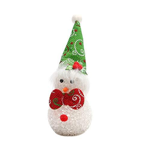 LED Night Light Kekailu, Cute Glow Christmas Snowman EVA Beads Light Flash Xmas Party Desktop Decoration - - Snowman Eva