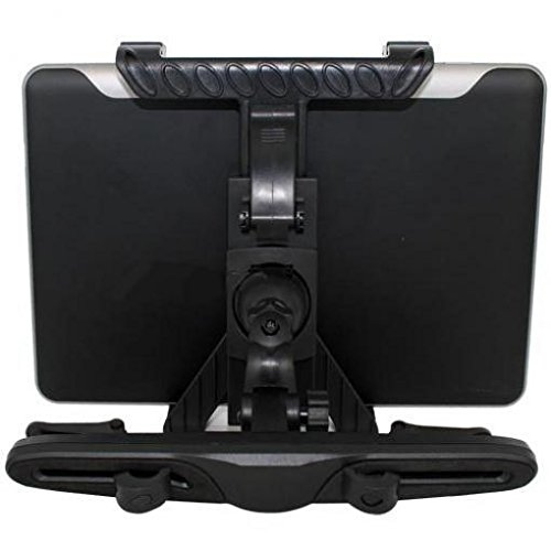 Car Headrest Mount Tablet Holder Rotating Cradle Back Seat Entertainment Dock Stand Black for Double Power T-708 - EFun Nextbook 7'' - EFun Nextbook 8'' by ATWATEC (Image #3)