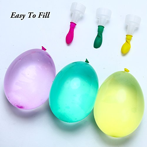 Aneco 600 Pack Water Balloons with 8 Refill Kits Latex Bomb Fight Games for Kids Adults Outdoor Water Bomb Fight Games